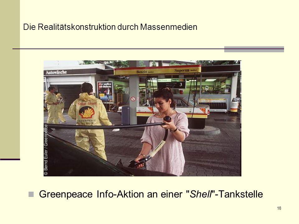 18 Greenpeace Info-Aktion an einer Shell -Tankstelle Die Realitätskonstruktion durch Massenmedien
