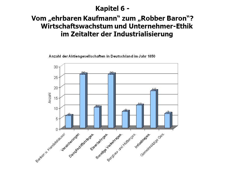 Kapitel 6 - Vom ehrbaren Kaufmann zum Robber Baron? Wirtschaftswachstum und Unternehmer-Ethik im Zeitalter der Industrialisierung