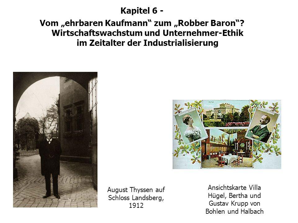 Unternehmerischer Habitus August Thyssen auf Schloss Landsberg, 1912 Ansichtskarte Villa Hügel, Bertha und Gustav Krupp von Bohlen und Halbach Kapitel