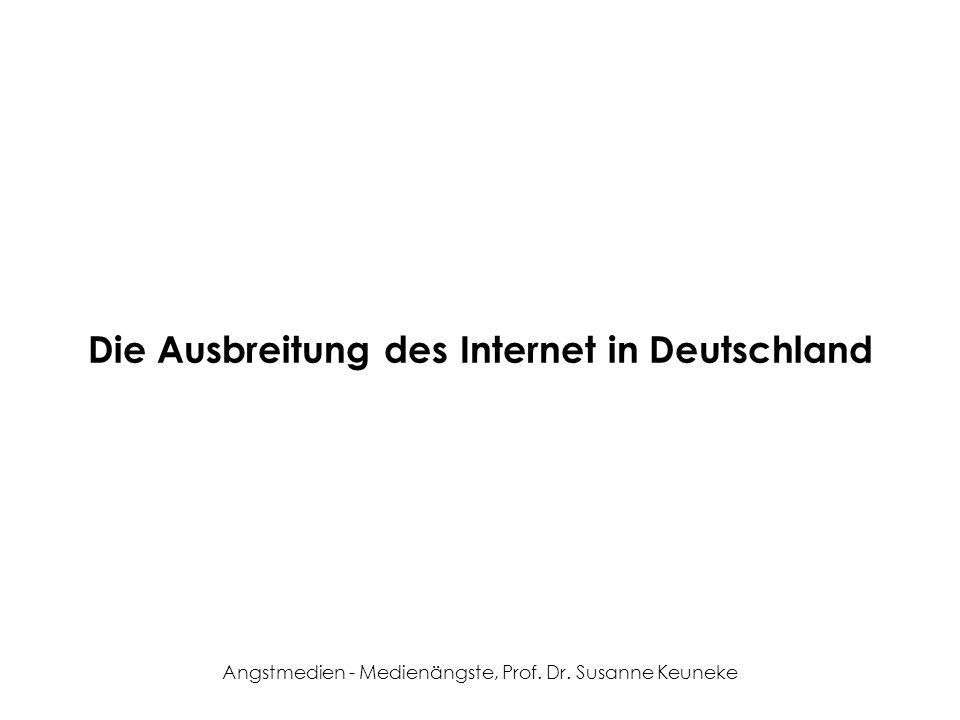 Angstmedien - Medienängste, Prof. Dr. Susanne Keuneke Die Ausbreitung des Internet in Deutschland
