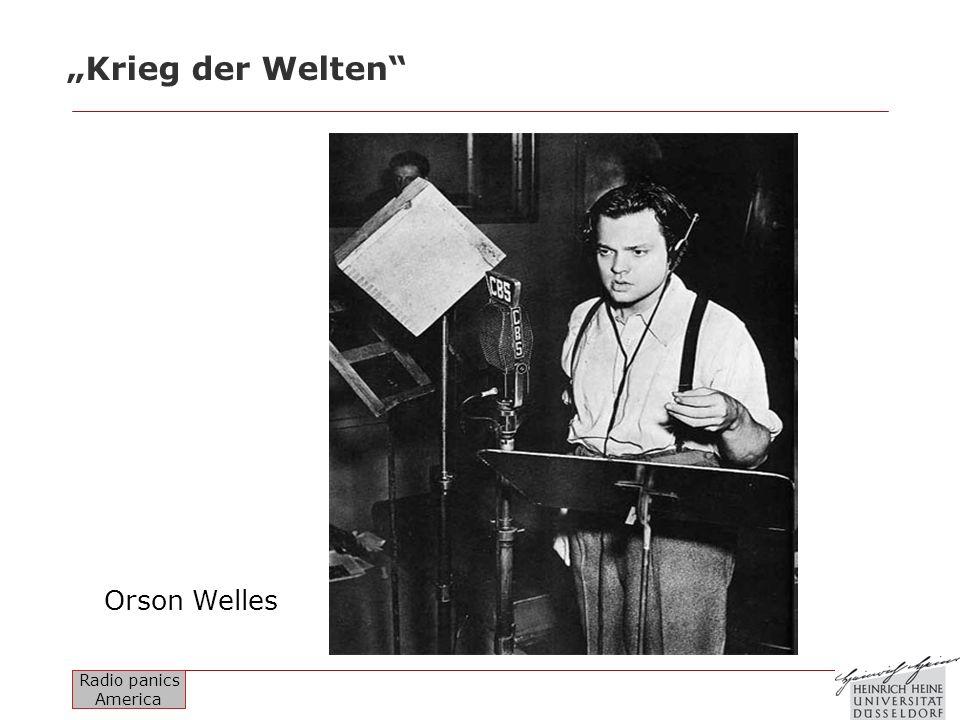 Radio panics America Krieg der Welten Orson Welles