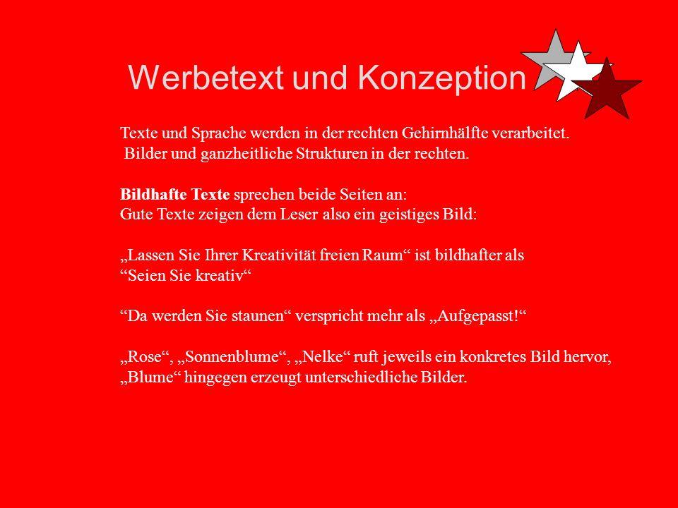 Werbetext und Konzeption Textsünden sind Abstrakta und Substantivisumus: Zählen Sie mal die Abstrakta und Substantive in ihren Texten: Das sind alle m