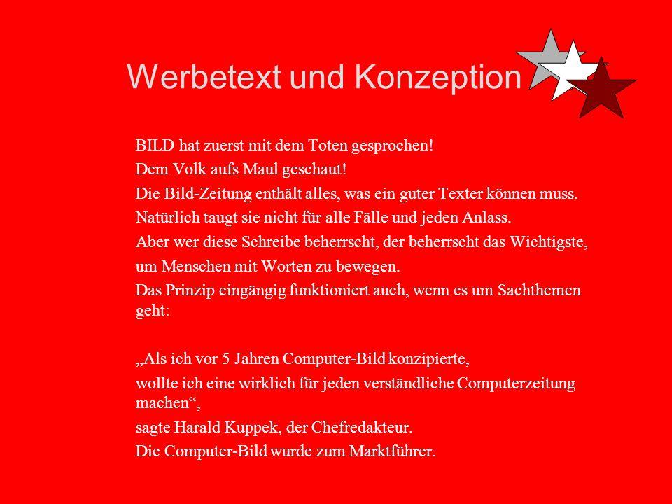 Werbetext und Konzeption 3.
