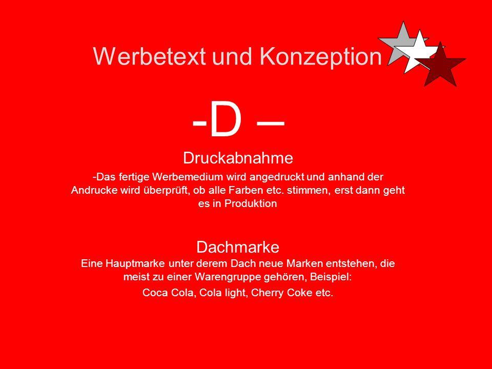 Werbetext und Konzeption -D – Deckenhänger -Ganz einfach Werbeschilder z.B. in Supermärkten, die von der Decke hängen Druckfehler Kann manchmal verhän