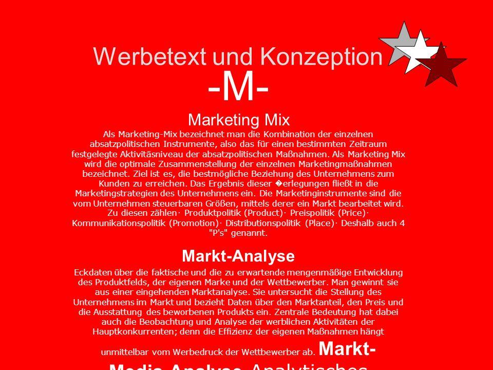 Werbetext und Konzeption -M- Marke Warenzeichen als Bild-, Wort- oder Wort-Bild-Marke, das für ein Produkt oder ein Unternehmen steht -Marketing Marke
