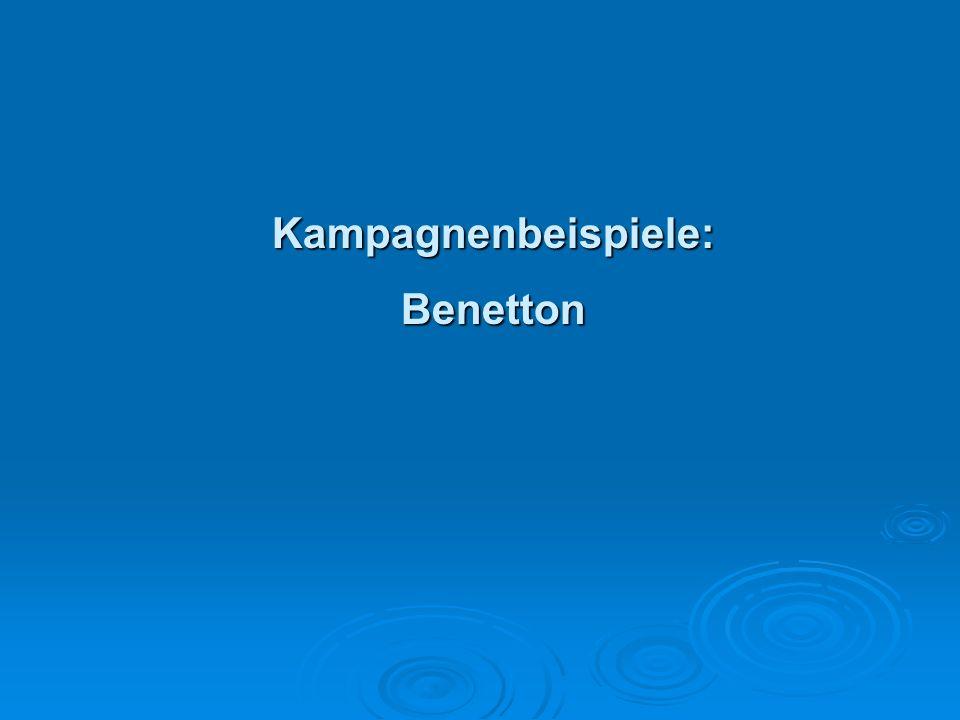 Kampagnenbeispiele: Benetton