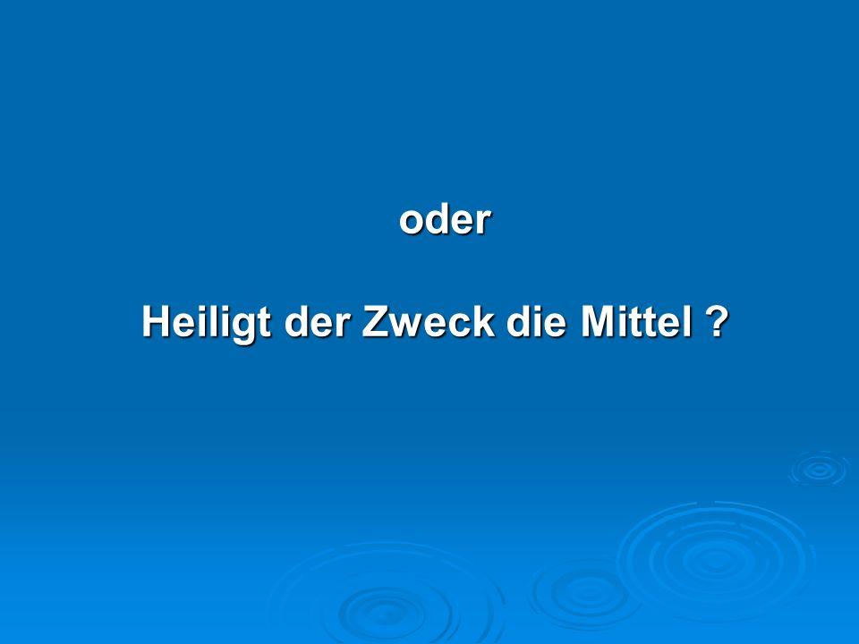 Verwendete Literatur: Bauer, Hans H., Marketing und Ethik.