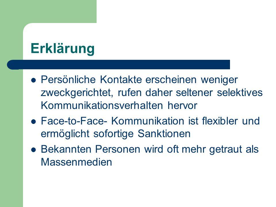 Virtuelle Meinungsführer Ersatzbezugspersonen für Personen mit z.B.