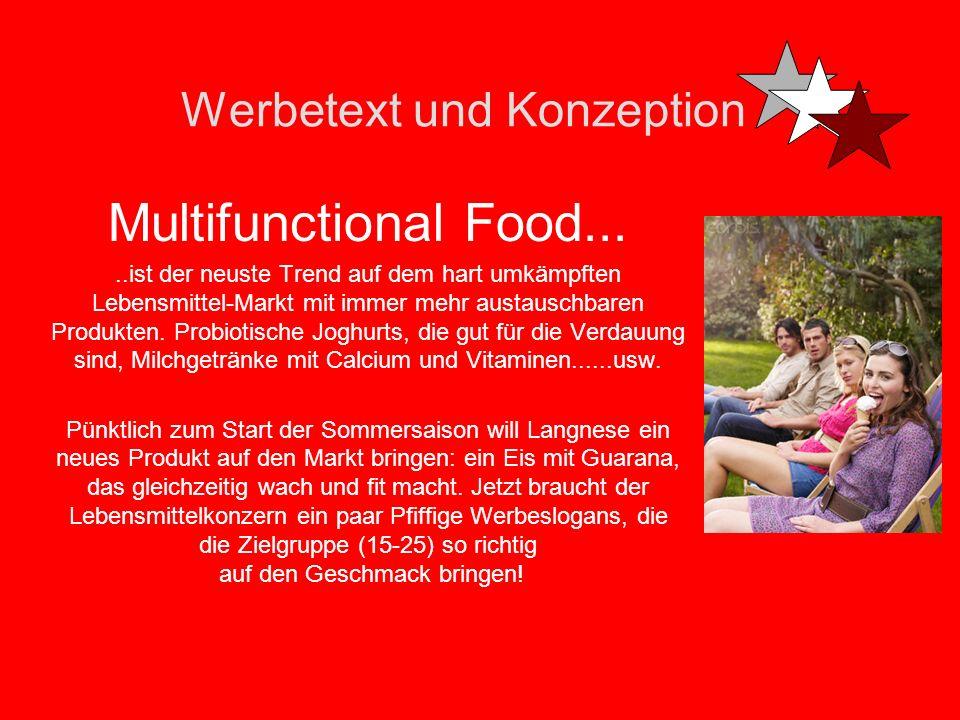 Werbetext und Konzeption Multifunctional Food.....ist der neuste Trend auf dem hart umkämpften Lebensmittel-Markt mit immer mehr austauschbaren Produkten.