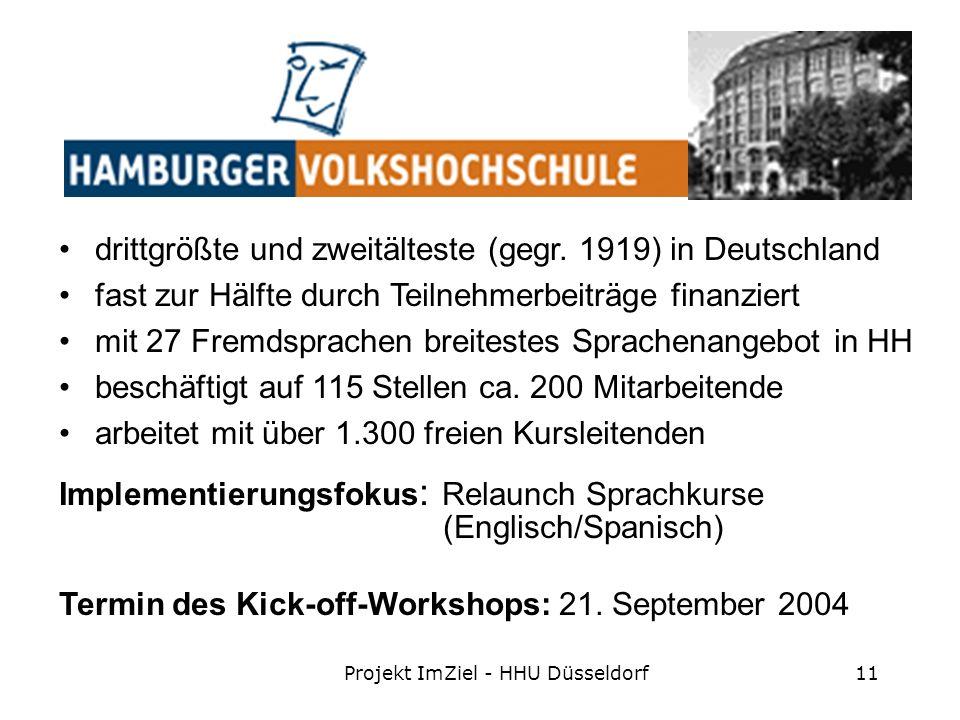Projekt ImZiel - HHU Düsseldorf11 drittgrößte und zweitälteste (gegr.