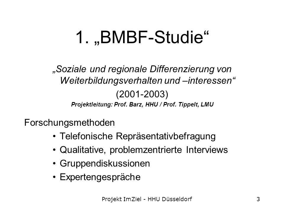 Projekt ImZiel - HHU Düsseldorf3 1.