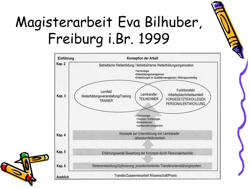 Magisterarbeit Eva Bilhuber, Freiburg i.Br. 1999