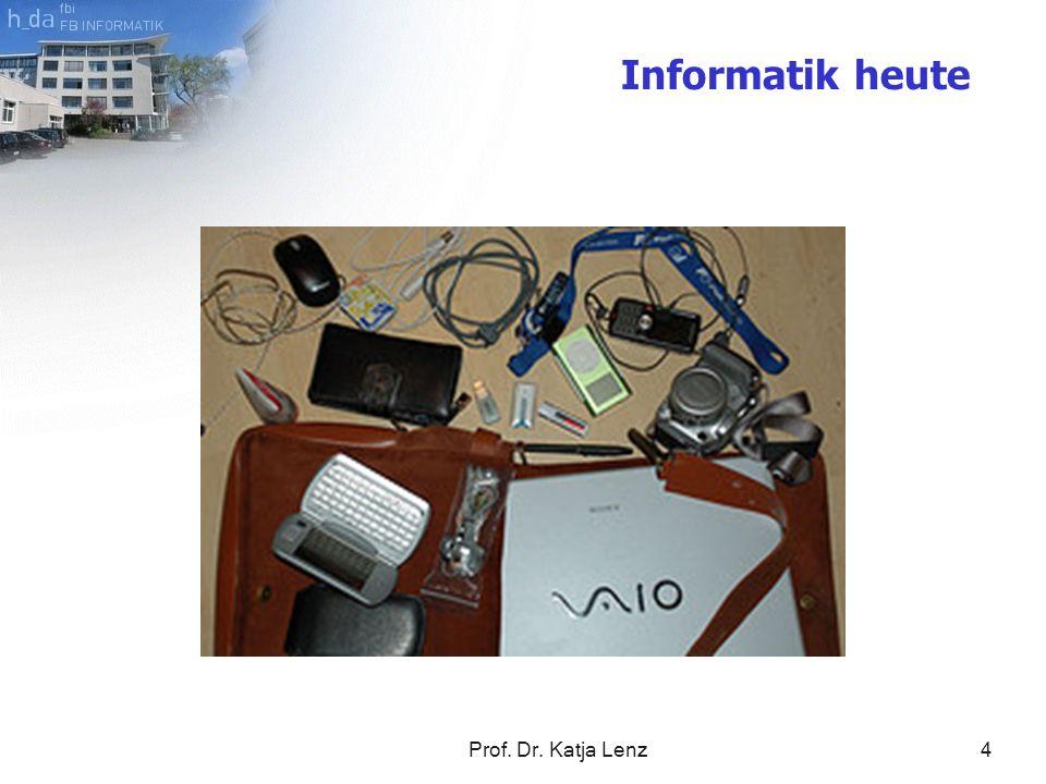 Prof. Dr. Katja Lenz5 Anwendungsentwickler Programmierer Systemadministrator Berufsfelder früher