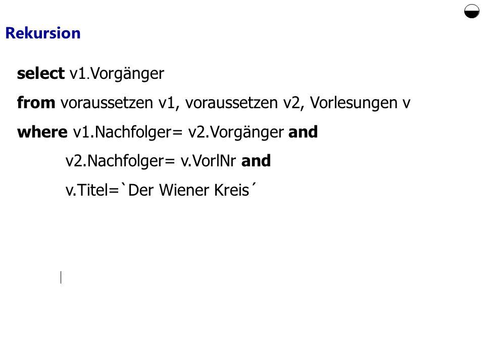 Rekursion select v1.