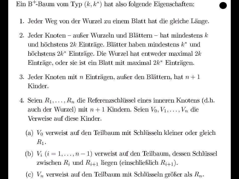 Datenbanken, SS 12Kapitel 9: Datenorganisation86