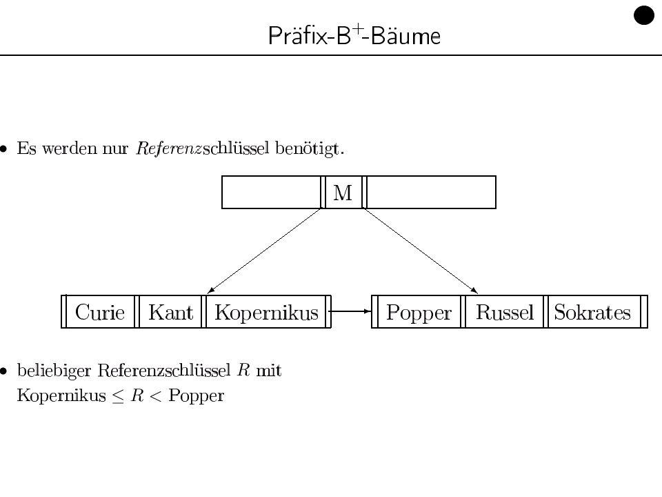 Datenbanken, SS 12Kapitel 9: Datenorganisation87