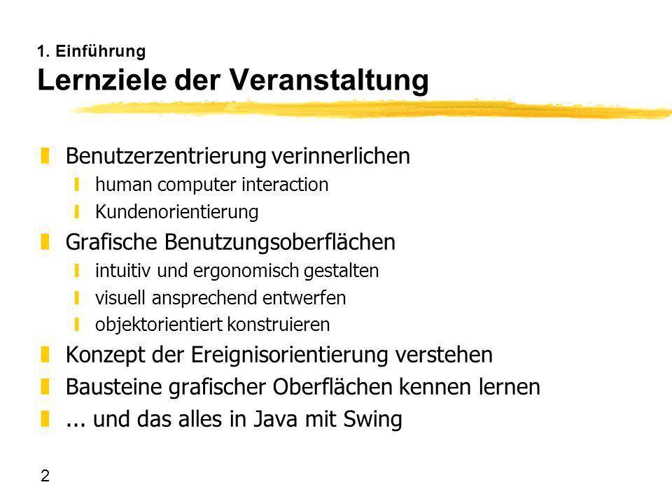 263 7.1 Schaltflächen JCheckBox: Wahrheitswert-I/O zwie JToggleButton, aber mit Zustandsanzeige Häkchen (= selected) zEreignisse: actionPerforme d( ActionEvent)// beim Anklicken itemStateChanged(ItemEvent)// bei Zustandswechsel zI/O: isSelected() boolean ItemEvent.getStateChange() SELECTED / DESELECTED zMethoden: ysetSelected(boolean); ysetEnabled(boolean); ysetVisible(boolean); ysetActionCommand(String);// wird Attribut von ActionEvent funktional identisch, anderes Aussehen