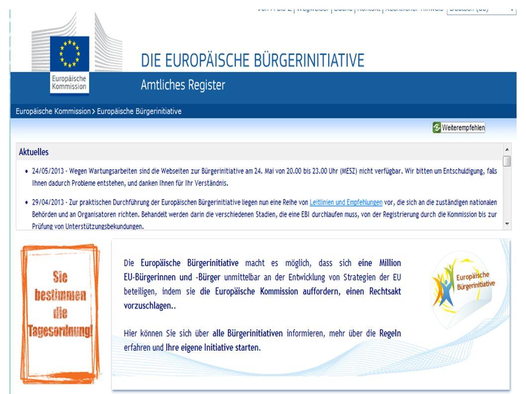 Eine Europäische Bürgerinitiative (EBI) – was ist das.