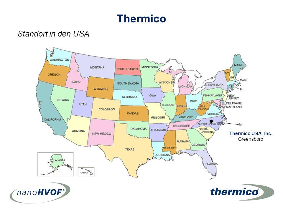 Thermico USA, Inc. Greensboro Standort in den USA Thermico