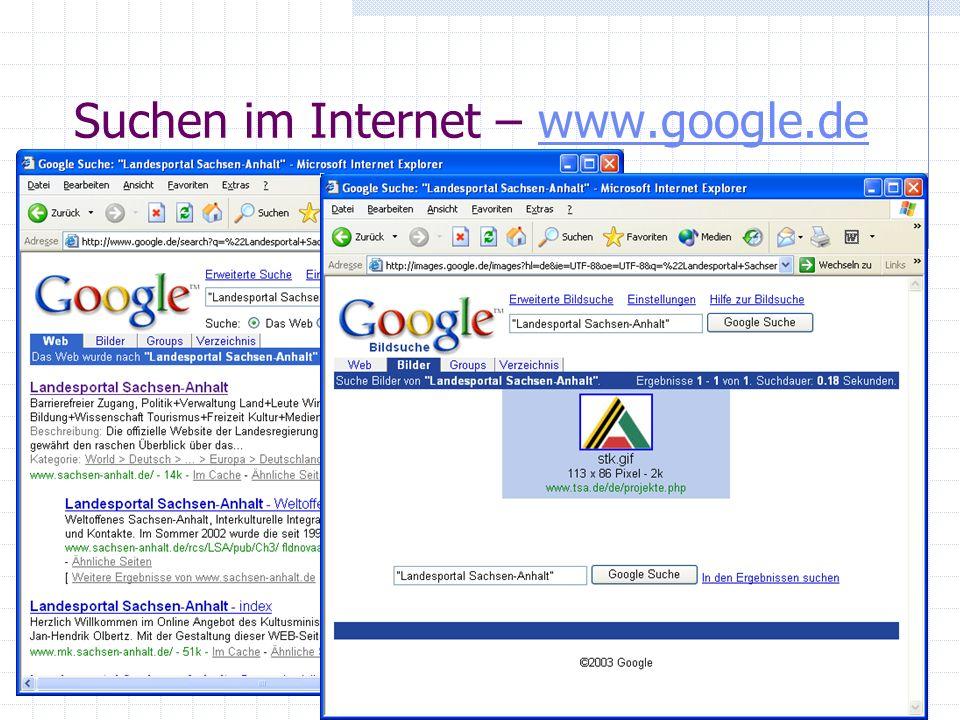 Suchen im Internet – www.google.dewww.google.de