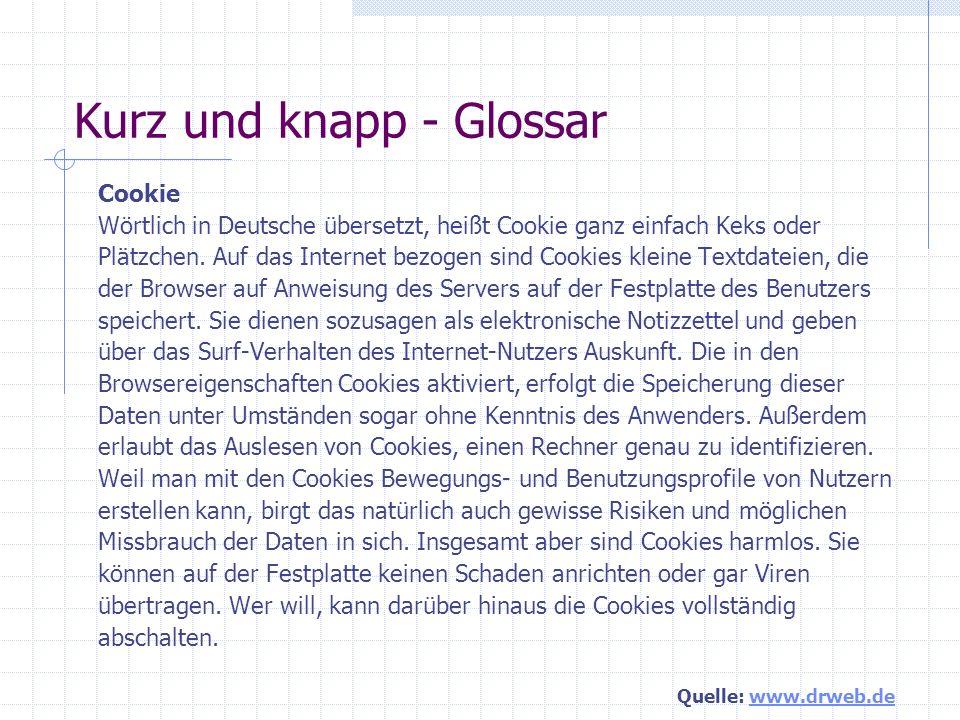 Kurz und knapp - Glossar Client Das Wort Client ist aus dem Deutschen von