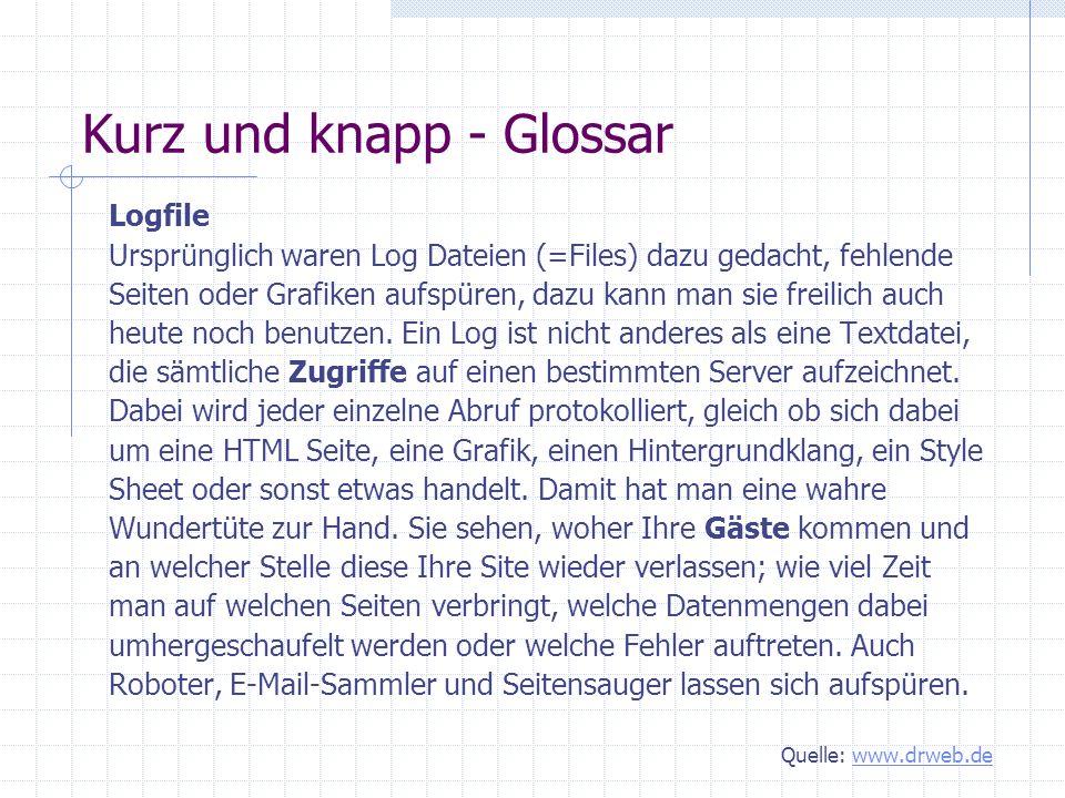 Kurz und knapp - Glossar Keyword Zu Deutsch
