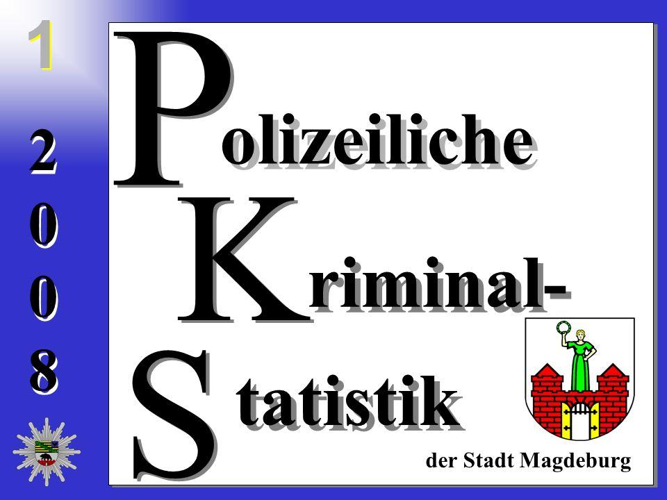 20082008 20082008 olizeiliche riminal- tatistik der Stadt Magdeburg S S K K P P 1 1