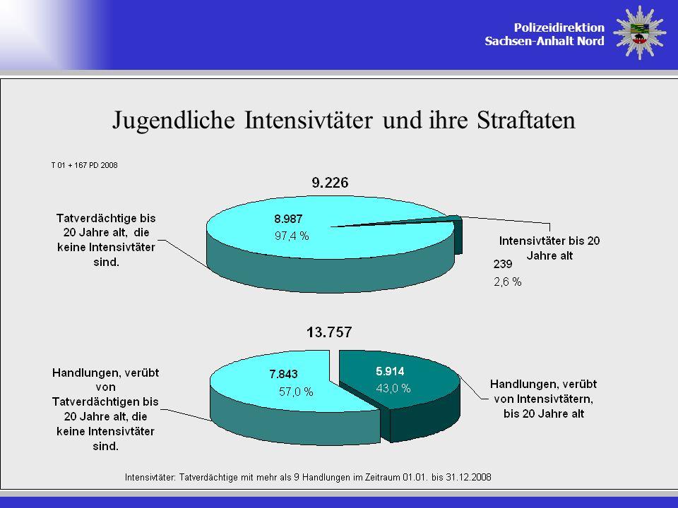 Polizeidirektion Sachsen-Anhalt Nord Jugendliche Intensivtäter und ihre Straftaten