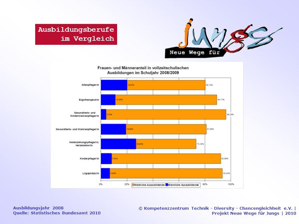 Ausbildungsjahr 2008 Quelle: Statistisches Bundesamt 2010 © Kompetenzzentrum Technik - Diversity - Chancengleichheit e.V.