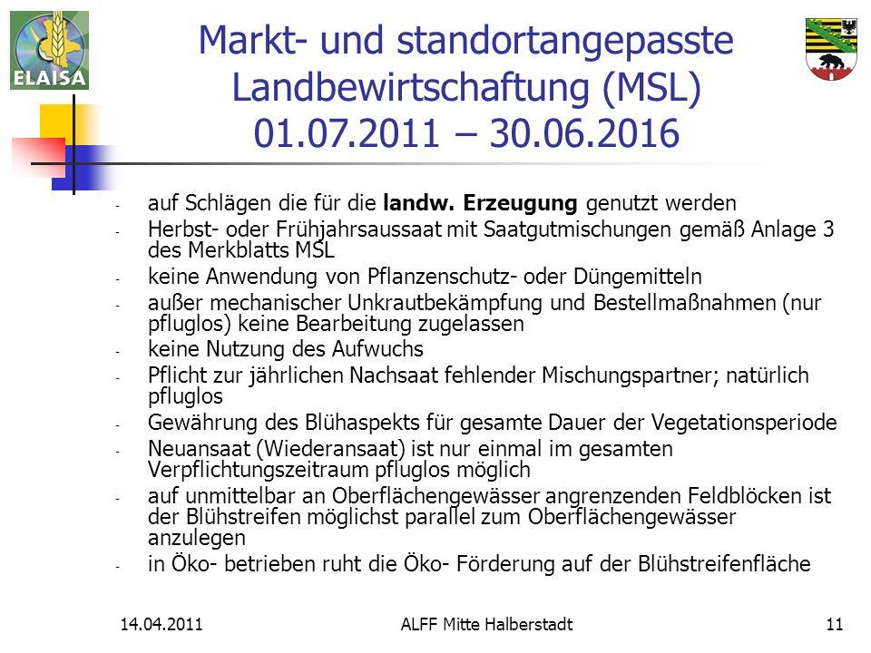14.04.2011ALFF Mitte Halberstadt11 - auf Schlägen die für die landw. Erzeugung genutzt werden - Herbst- oder Frühjahrsaussaat mit Saatgutmischungen ge