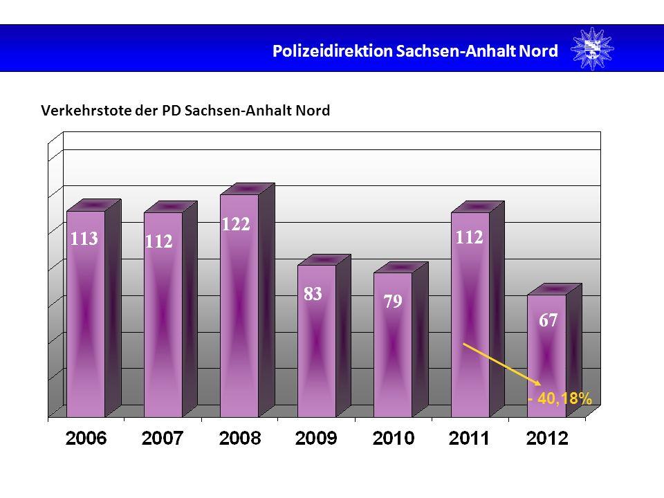 Anteil der Hauptunfallursachen Polizeidirektion Sachsen-Anhalt Nord