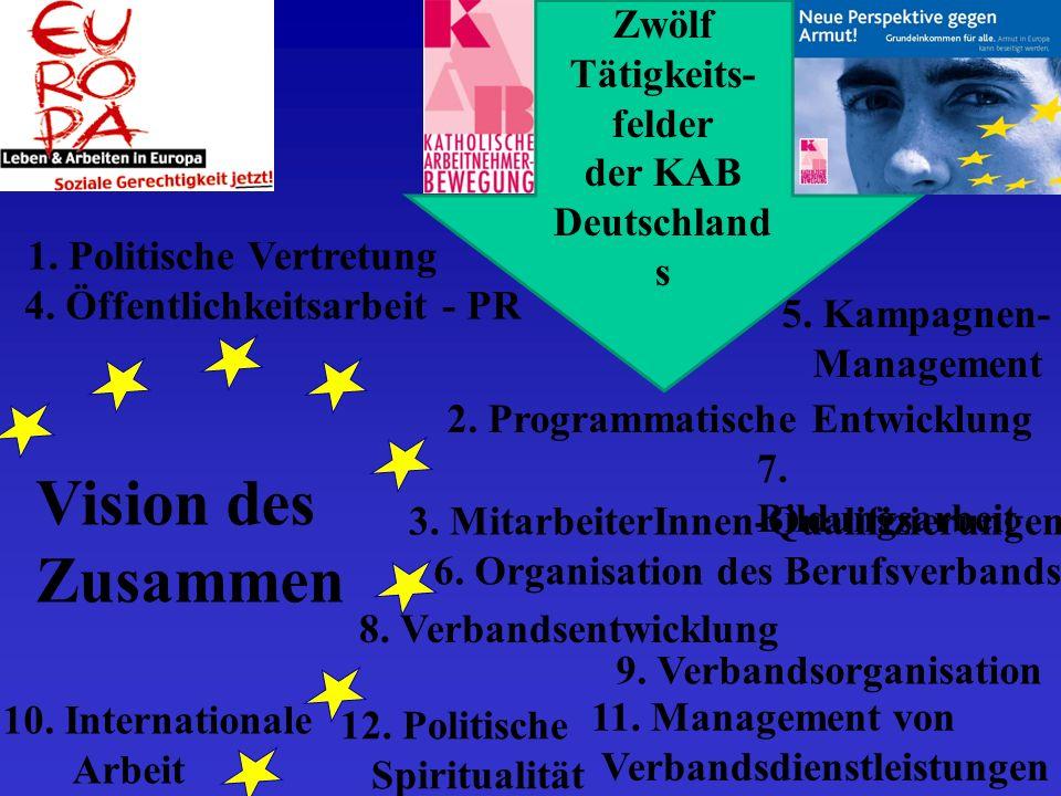 Vision des Zusammen Zwölf Tätigkeits- felder der KAB Deutschland s 1.