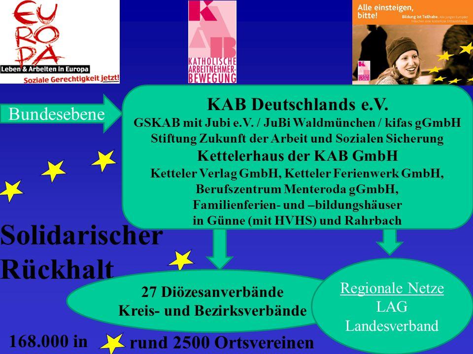 rund 2500 Ortsvereinen Solidarischer Rückhalt Bundesebene KAB Deutschlands e.V.