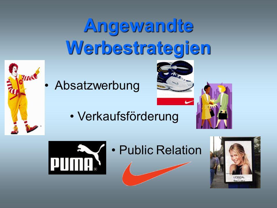 Angewandte Werbestrategien Absatzwerbung Verkaufsförderung Public Relation