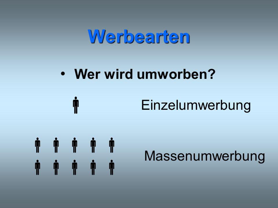 Quellenverzeichnis http://www.fh-trier.de/~blankenf/studium/10MARKET/F12Werbearten.doc http://www.noack-ub.de/werbung.htm#Unterschied ACNielsen S+P (Hamburg)/ZAW-Berechnung http://www.zingel.de/pdf/09wrb.pdf http://home.fhtw-berlin.de/~s0356011/WERBUNG.PDF http://195.143.20.7/zaw/arbeitsplaetze.htm http://www.unterrichtsdatenbank.de/
