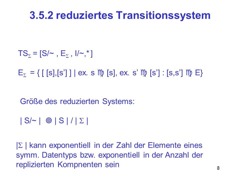 19 Das Orbit-Problem geg.: Zustand s, Zustandsmenge S, Symmetriegruppe Frage: gibt es ein mit (s) S .