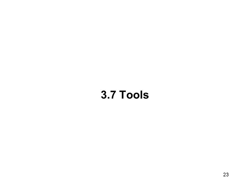 23 3.7 Tools