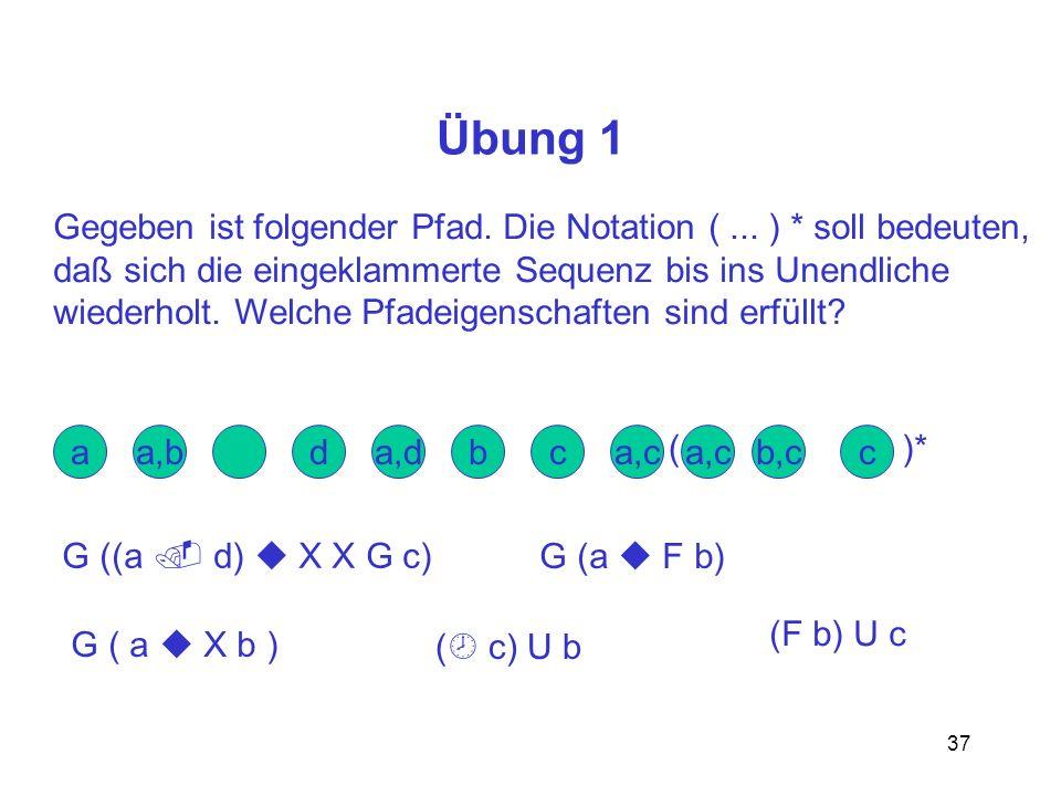 37 Übung 1 Gegeben ist folgender Pfad.Die Notation (...