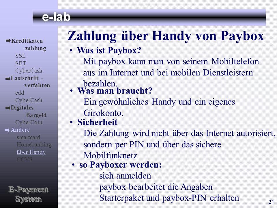 Zahlung über Handy von Paybox Was ist Paybox? Mit paybox kann man von seinem Mobiltelefon aus im Internet und bei mobilen Dienstleistern bezahlen. Was