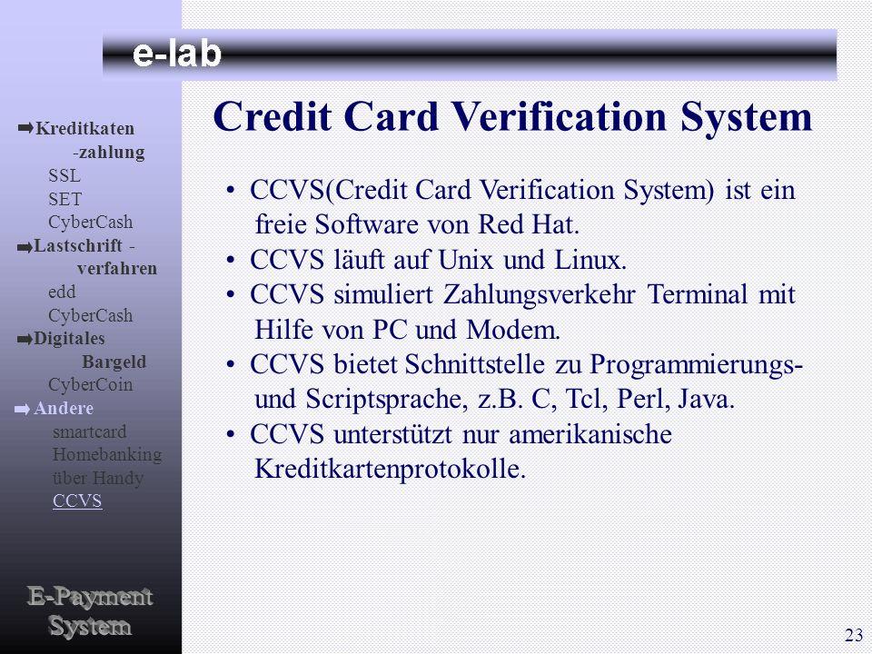 Kreditkaten -zahlung SSL SET CyberCash Lastschrift - verfahren edd CyberCash Digitales Bargeld CyberCoin Andere smartcard Homebanking über Handy CCVS