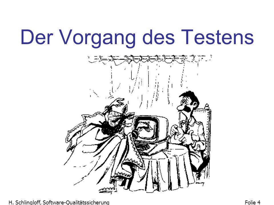 Folie 25 H.Schlingloff, Software-Qualitätssicherung 27.10.2004 2.1 Lebenszyklen z.B.