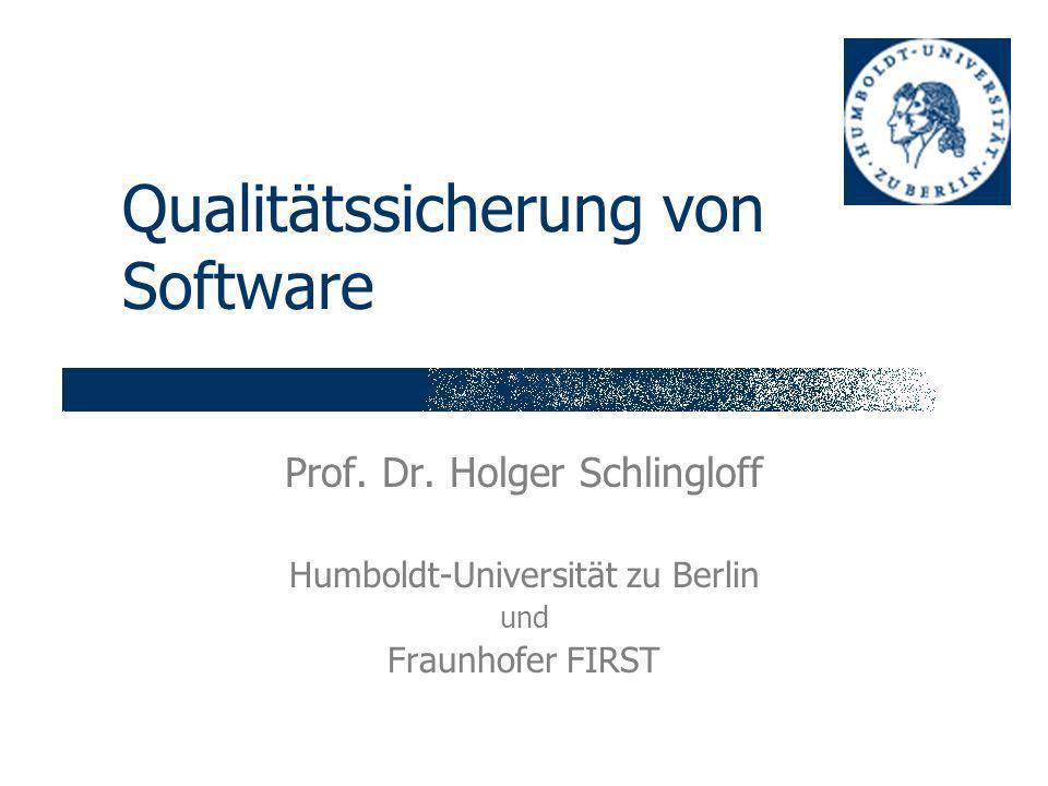 Qualitätssicherung von Software Prof.Dr.