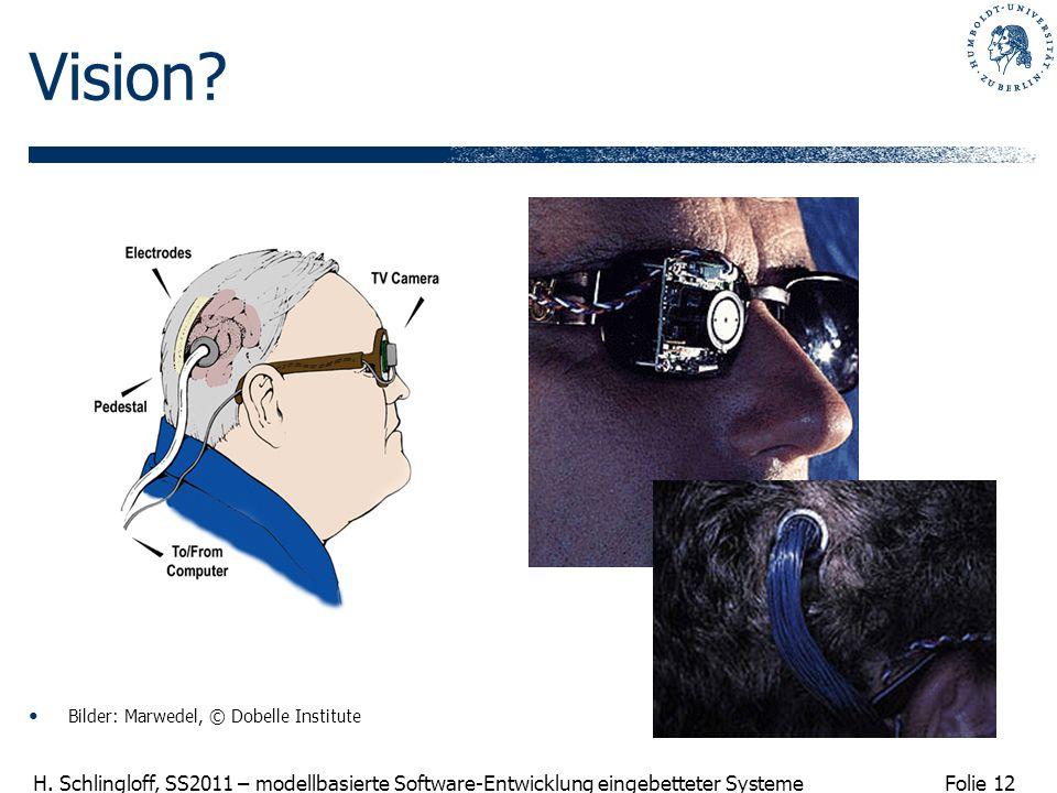 Folie 12 H.Schlingloff, SS2011 – modellbasierte Software-Entwicklung eingebetteter Systeme Vision.