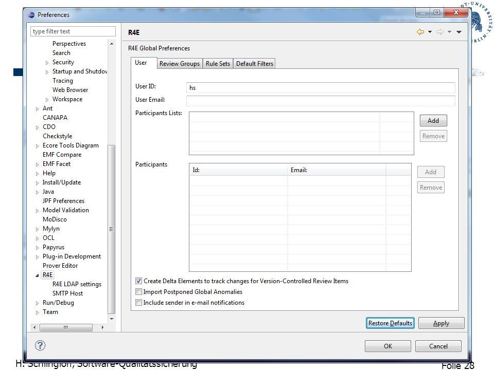 Folie 29 H. Schlingloff, Software-Qualitätssicherung LIDS Screenshots