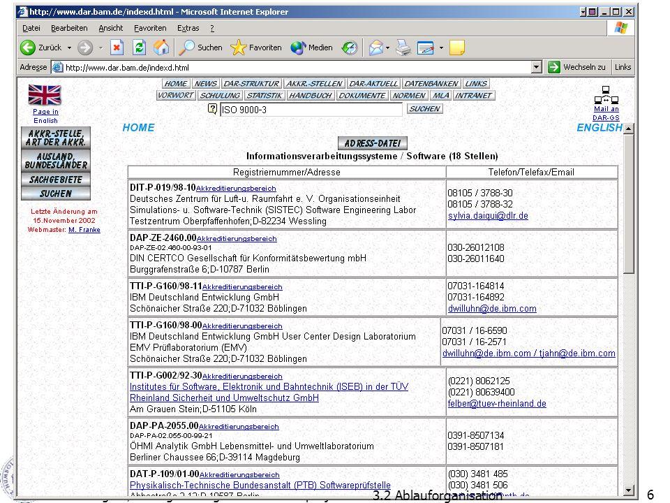 20.11.2002H. Schlingloff, Management großer Softwareprojekte6 3.2 Ablauforganisation
