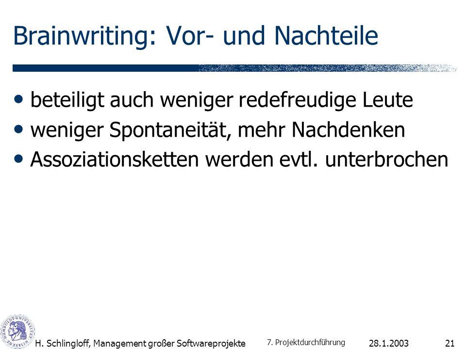 28.1.2003H.Schlingloff, Management großer Softwareprojekte22 Mindmapping von T.