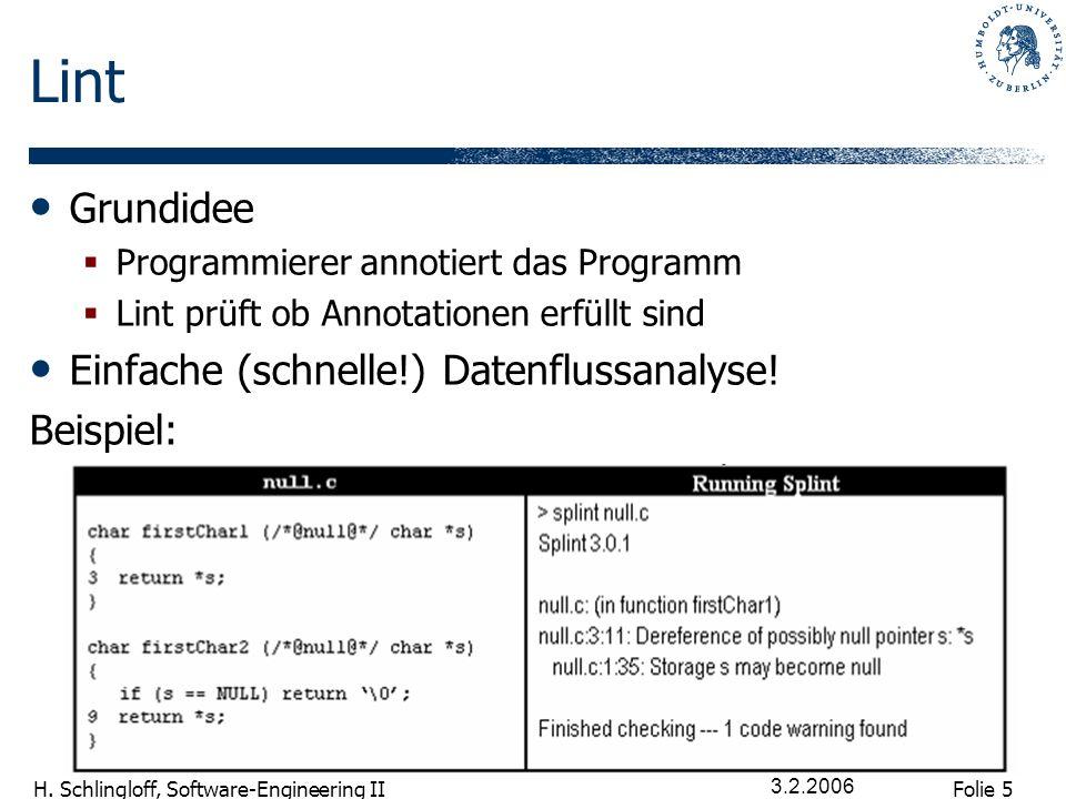 Folie 16 H.Schlingloff, Software-Engineering II 3.2.2006 Wie abstrahieren.