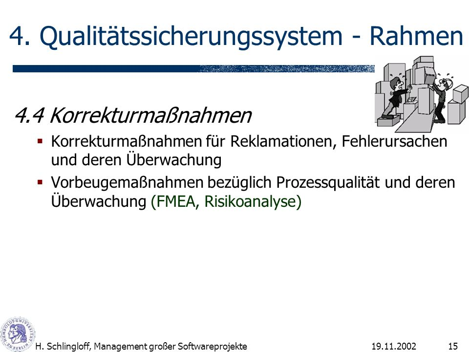 19.11.2002H.Schlingloff, Management großer Softwareprojekte15 4.