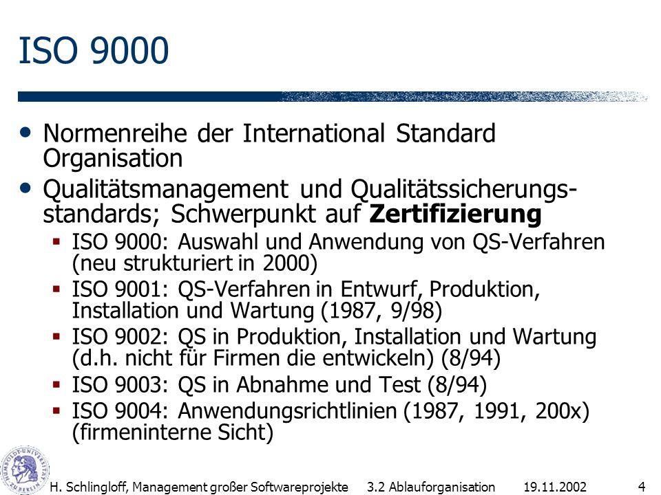 19.11.2002H.Schlingloff, Management großer Softwareprojekte15 4.