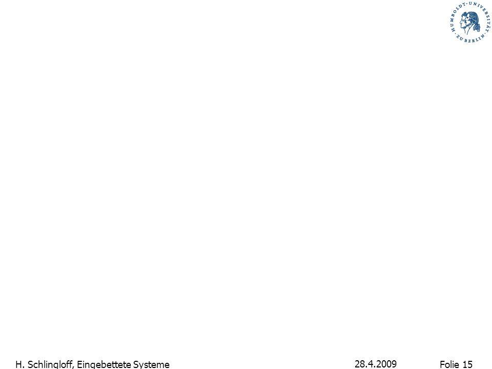 Folie 15 H. Schlingloff, Eingebettete Systeme 28.4.2009